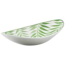 Aluminium Palm Leaf Design Oval Bowl