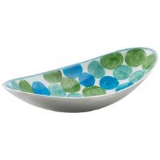 Aluminium Multi Circle Dot Design Oval Bowl