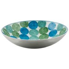 Aluminium Multi Circle Dot Design Round Bowl