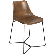 Elm Leather Dining Chair