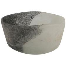 Grey & White Natural Organic Glass Bowl