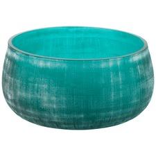 Glass Aqua Frosted 22cm Bowl