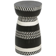 Black & White Mischa Wooden Stool
