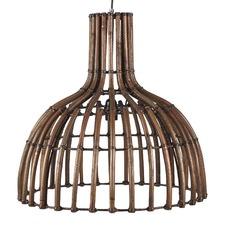 Plug Hanging Rattan Lamp