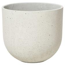 Large White Lime Concrete Plant Pot