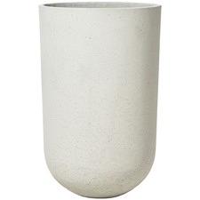 Tall White Lime Concrete Plant Pot