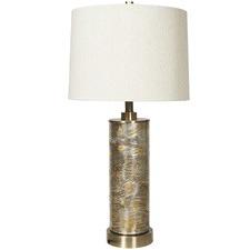 Opulent Glass & Metal Table Lamp