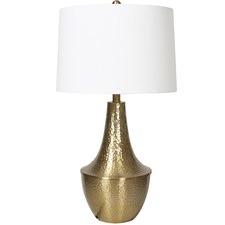 Brass Metal Beaten Table Lamp