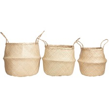 3 Piece Medina Foldable Seagrass Basket Set
