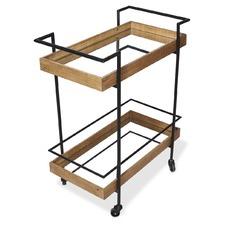 Heritage Wood & Metal Kitchen Bar Cart