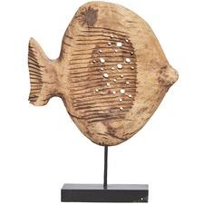 Tall Neptune Mango Wood Fish on Stand