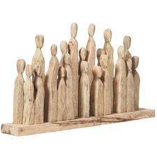 Wide Metropolis Mango Wood Figures Decor