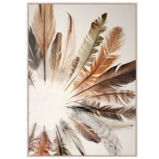 Feather Form Canvas Wall Art