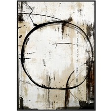 Abstract Ring Framed Canvas Wall Art