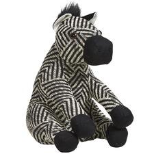 Black & White Ziggy The Zebra Door Stop