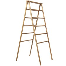 Natural Rattan Folding Ladder
