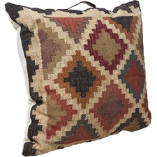 Kilm Checkered Floor Cushion with Handle