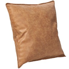 Tan Rover Faux Leather Cushion