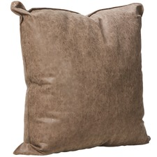 Chocolate Brown Rover Faux Leather Cushion