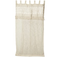Boho Hand-Knitted Cotton Curtain Wall Art