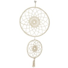 Natural Hand-Knitted Cotton Dream Catcher