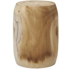 Bleached Jayapura Paulownia Wood Stool
