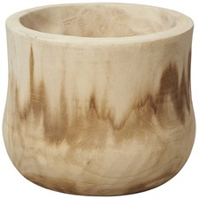 Bleached Wide Paulownia Wood Planter