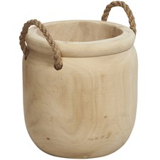 Bleached Medium Goree Wood Planter