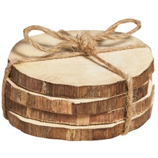 Bleached Semarang Wood Coasters (Set of 4)