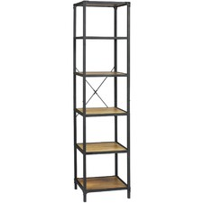 Soho Compact 5 Tier Wood & Metal Shelving Unit