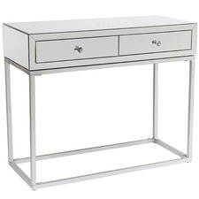 Silver Mayfair 2 Drawer Mirrored Console