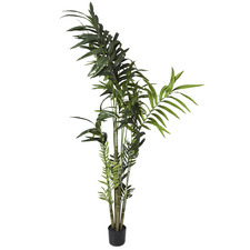 Potted Faux Kentia Palm Tree