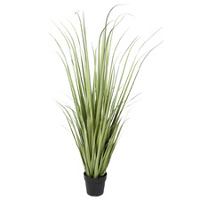 Potted Faux Curved Grass