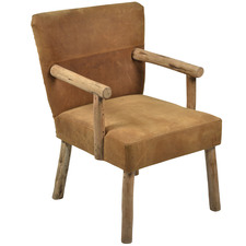 Tan Palermo Leather Accent Chair