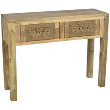 Arizona Mango Wood & Jute Console Table