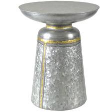 Oxidised Silver Austin Aluminium Side Table