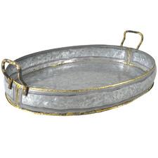 Oxidised Silver Austin Iron Oval Tray