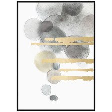 Luxe Abstract Framed Canvas Wall Art