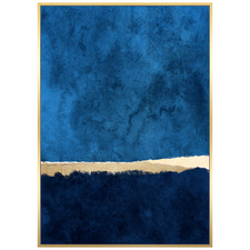 Deep Water Abstract Framed Canvas Wall Art