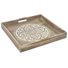 White Washed Lyon Serving Tray