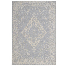 Blue & Ivory St Tropez Soft Heritage Outdoor Rug