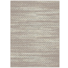 Brown & Ivory St Tropez Cross Outdoor Rug