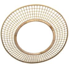90cm Brun Bamboo Wall Mirror
