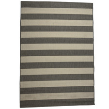 Grey & Champagne Striped Suva Outdoor Rug