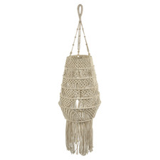 Byron Macrame Long Pendant Light with Tassels