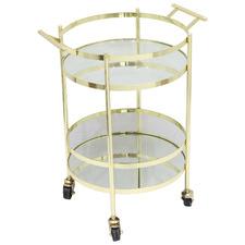 Gold Manhatten & Glass Bar Cart