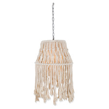 Cotton and Metal Rope Canopy Pendant Light