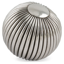 Striped Ball Steel Decorative Accent