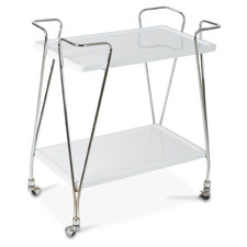 2 Tier Wood & Metal Drinks Trolley