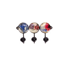 3 Piece Postage Stamp Wall Hook Set